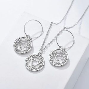 Celtic Circle 3 Piece Earring and Necklace Set